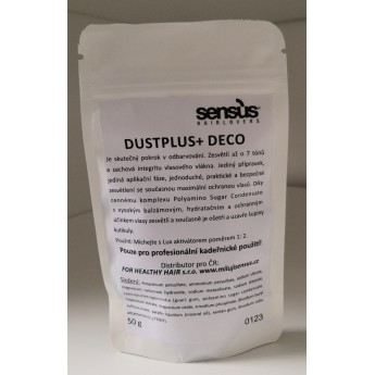 Sensus Deco DustPlus - odbarvovač Deco DustPlus tester 50 gr