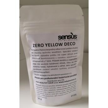 Sensus Zero Yellow deco - fialový odbarvovací prášek tester 50 gr