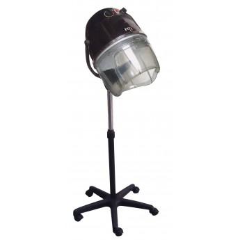 Kadeřnická sušící helma Fox Air Ionic se stojanem Černá