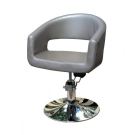 Kadeřnické designové křeslo Hairway RETRO - šedé