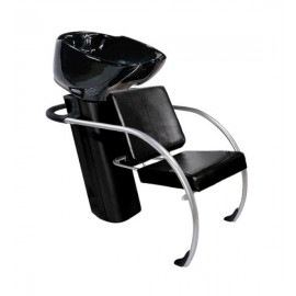 Kadeřnický mycí box Hairway Jazz - černý(YD29)/černá mísa