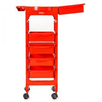 Kadeřnický vozík fox Broadway červený