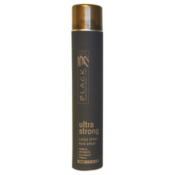 Black lak na vlasy ultra strong 750 ml