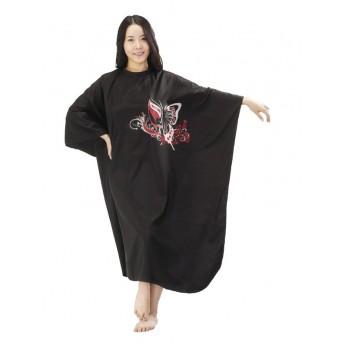 MILA pláštěnka na stříhání BUTTERFLY černá